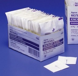 IV Sponge Excilon AMD 2x2 AntiMicrobial Kendall 7089- Box of 70
