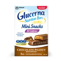 Snack Bars Glucerna Mini Chocolate Peanut Abbott 63030- Case/36 Bars