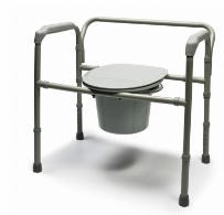 Bariatric Folding Commode Steel- 650 Lbs - Graham Field 7109A2- 1 Each