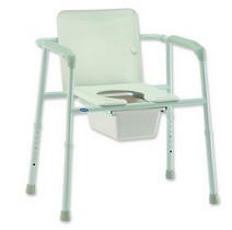 Invacare Steel Commode Heavy Duty- INV6497 Extra Wide- 450 Lbs- 1 Each