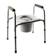 Steel Commode- Invacare Safeguard- Gray Color- Mfr# INV96104- 1 Each