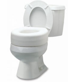 Toilet Seat Raised 4.5 Inch High 250Lbs Lumex GF Health 6909A1- 1 Each