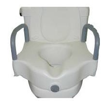Toilet Seat Raised 5 Inch with Arms 250 Lbs Sunmark 1327774- 1 Each