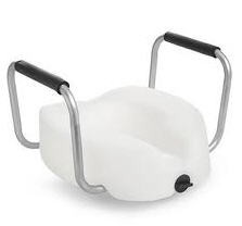 Raised Seat Toilet 4.5 Inch with Arms Invacare ISG1302RTS- 1 Each