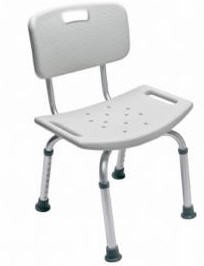 Shower Chair with Back Gray GF Health Lumex Brand 7921A1- 1 Each