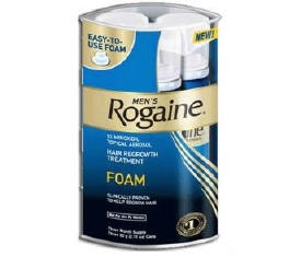 Rogaine Foam for Men for Hair Regrowth- 4 Months Supply- 4 Pack