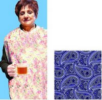 Waterproof Mealtime Protectors- Blue Paisley- Invacare 5914764- 1 Each