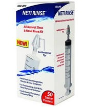 NetiRinse Sinus and Allergy Relief- 50 Saline Packs- HEI400764- 1 Kit