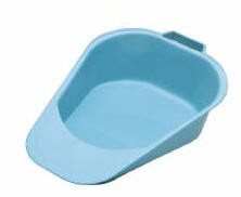 Reusable Bedpan For Women- Fracture Style- Blue- SKU 00081- 1 Each