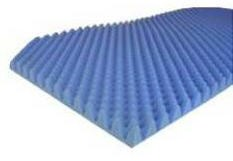 Bed Overlay Eggcrate BedPad 32x72x4 Inch Blue Joerns 11140CC- 1 Each