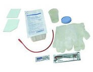 AMSure Cath Tray with Red Rubber Catheter- Amsino AS87114- 20/Case