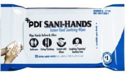 PDI Sani Hands Alcohol Wipes Bedside Pack P71520- 20 Pack