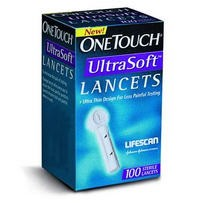 Lifescan OneTouch UltraSoft Lancets 28 Gauge 020393- Box of 100