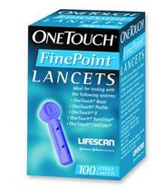 Lifescan One Touch FinePoint Lancets 020046- Box of 100