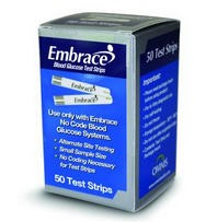 Embrace Test Strips No Code Omnis 02AB0202- Box of 50