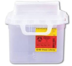 Container Sharps 5.4 Quart Pearl Base Side Entry BD 305444- 1 Each