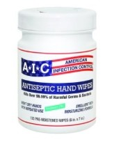 AIC Antiseptic Hand Wipes American Infection Cntrl AIC02051- 135 Wipes