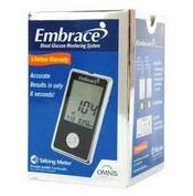 Omnis Embrace Talking Glucose Meter No-Code 01AB0200- 1 Each