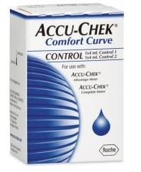 Accu-Chek Comfort Curve Control Solution 4mL High & Low 30411- 2 Pack