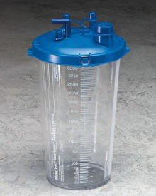 Medi-Vac Suction Canister 2000mL with Locking Lid 65651220- 1 Each