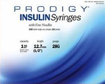 Prodigy Insulin Syr 1cc with Needle 990430 28G 12.7mm- 100/Box