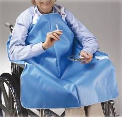 Skil-Care No Flame Smokers Apron- Blue- Mfr# 906010- 1 Each
