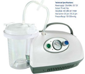 Portable Suction Unit for Aspiration- AC/DC with Battery- MQ1100- 1 Ea