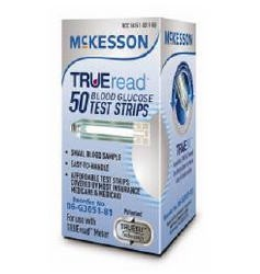 McKesson TRUEread Glucose Test Strips 06G305181- Box of 50