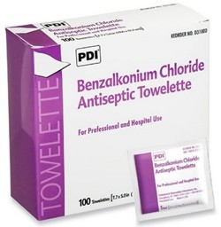 Case of Hygea BZK Wipes Antiseptic Hospital Wipe PDI D35185- CS/2000