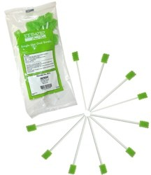 Oral Swabstick Toothette Foam Untreated Unflavored Sage 6072- 10 Pack