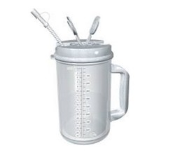 Thermo Mug with Straw 32oz Graduated Clear/Granite TM32P- 1 Each