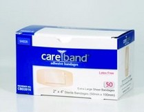 Sheer Adhesive Strips  2 x 4 Inch Latex Free Careband CBD2016- Box/50