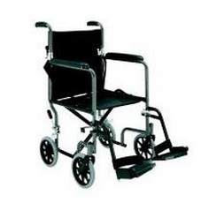 Transport Chair Black 19 Inch with Footrests Merits N2469UFZMU- 1 Each