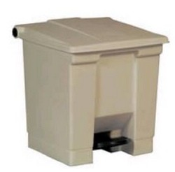 Trash Can Beige Step On 8 Gallon Rubbermaid FG614300BEIG- 1 Each