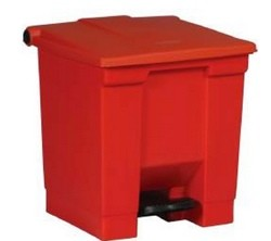 Trash Can Red Step On 8 Gallon Rubbermaid FG614300RED- 1 Each