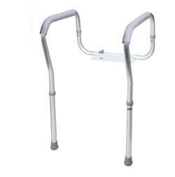 Frame Toilet Safety Gray Padded Arms Carex B356CO 300 Lbs- 1 Each