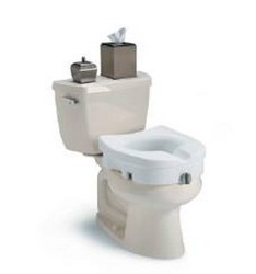 Seat Toilet 4.5 Inch High Raised Clamp-On Invacare ISG1301RTS- 1 Each