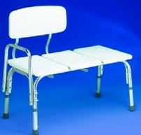 Bathtub Transfer Bench with Back White Carex B15411- 1 Each