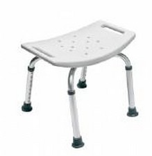 Bath Bench w/o Back Gray Clr Lumex 350 Lbs GF Health 7931A- 1 Each