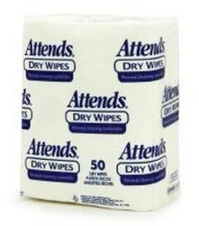Case of Attends Wipes 10x13 Inch White Disposable 2500- Case/1000