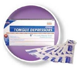 Tongue Depressors 6 Inch Wood Sterile Dukal 9004- Box of 100