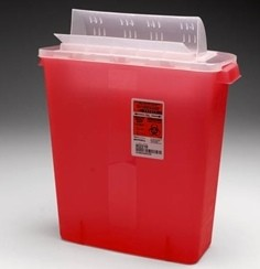 Sharps Container 3 Gallon Red Covidien InRoom 85221R- 1 Each