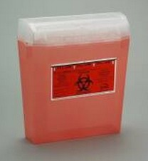 Sharps Container Red 3 Quart Bemis Wall Safe 1 Piece 125030- 1 Each