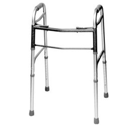 Walker Folding 2 Button Dlx 32- 39 Inch Invacare 1050GW- 1 Each