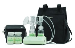 Breast Pump Dual Purely Yours with Carry All Evenflo 17077P- 1 Each