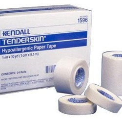 Tape Paper Tenderskin 1/2inch x 10 Yards Covidien 1596C- Box of 24