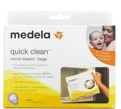 Quick Clean Micro Steam Bags for Cleaning Breastpump Parts 87024- Bx/5