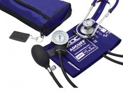 Kit BP Cuff Stethoscope Royal Blue ProS Combo II ADC 768641RB- 1 Each