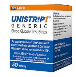 Unistrip Blood Glucose Test Strips for OneTouch Ultra Meters- Box/50