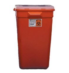 Sharps Container 19 Gallon Red Sharps-A-Gator Kendall 31378089- Case/5
